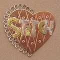Stitch Heart scissor sitter or pin