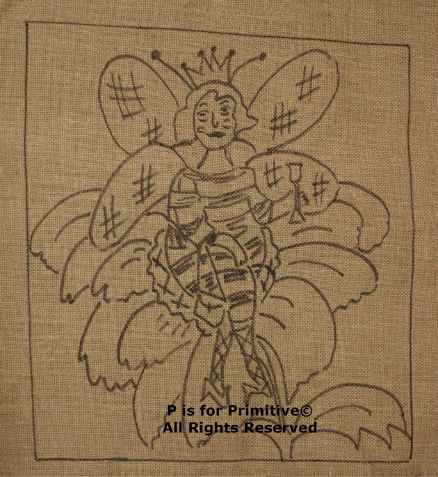 Queen Bee P is for Primitive Pattern