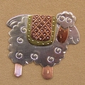 Quilty Sheep scissor sitter or pin