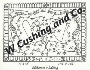 Elaborate Wedding Large, pattern by
